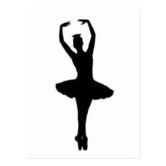 Carte Postale En POINTE (danseur classique Silho de PIROUETTE de