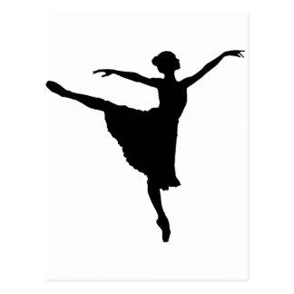 Carte Postale En Pointe (silhouette de danseur classique) ~.p de