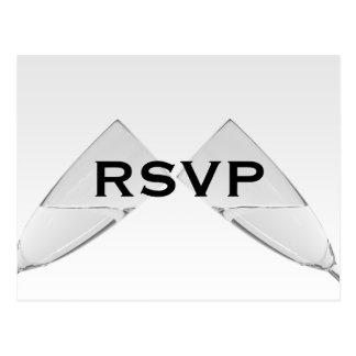 Carte postale en verre de Champagne RSVP