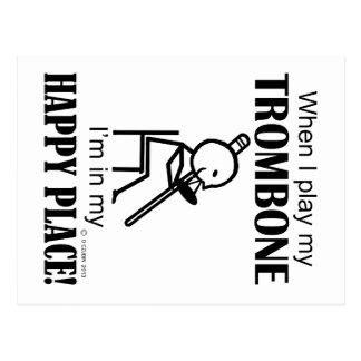 Carte Postale Endroit heureux de trombone