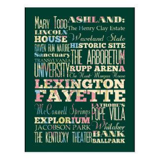 Carte Postale Endroits célèbres de Lexington Fayette, Kentucky
