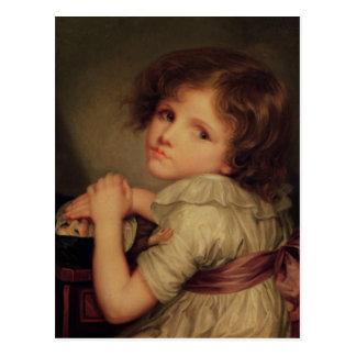 Carte Postale Enfant avec une poupée