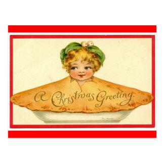Carte Postale Enfant de tarte de Noël