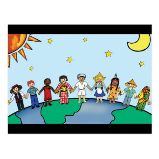 Carte Postale Enfants du monde