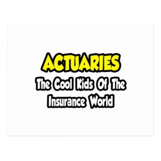 Carte Postale Enfants frais d'actuaires… de monde d'assurance