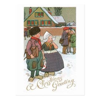 Carte Postale Enfants néerlandais - une salutation de Noël