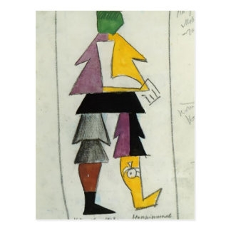 Carte Postale Ennemi de Kazimir Malevich-