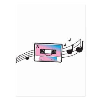Carte Postale Enregistreur à cassettes mignon