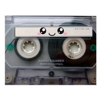 Carte Postale Enregistreur à cassettes mignon de Kawaii