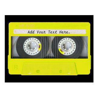 Carte Postale Enregistreur à cassettes personnalisable au néon