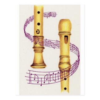 Carte Postale Enregistreur et musique