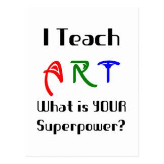 Carte Postale Enseignez l'art