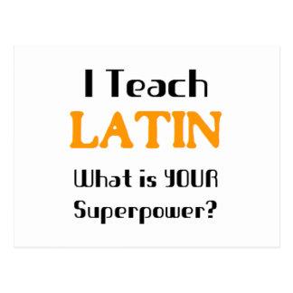 Carte Postale Enseignez le latin