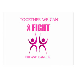 Carte Postale Ensemble nous pouvons combattre le cancer du sein