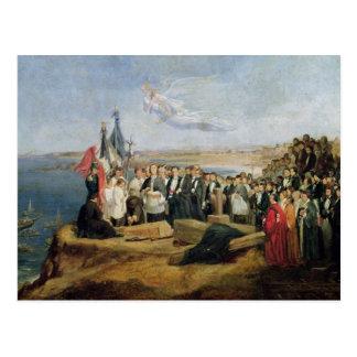 Carte Postale Enterrement de Vicomte de Chateaubriand