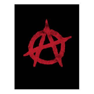 """Carte Postale """"entourez"""" un symbole d'anarchie"""