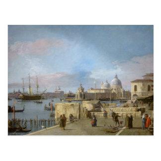 Carte Postale Entrée au canal grand du Molo, Venise