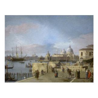 Carte Postale Entrée au canal grand par Canaletto