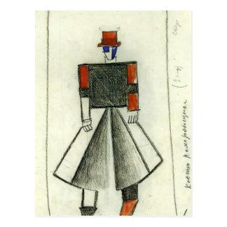Carte Postale Entrepreneur de Kazimir Malevich-