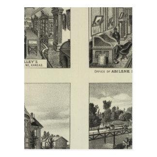 Carte Postale Entreprises et résidences, Abilene, le Kansas