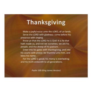 Carte Postale Entrez avec le psaume 100 de thanksgiving et de