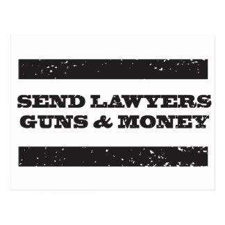 Carte postale - envoyez à des avocats les armes à
