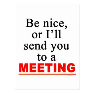 Carte Postale Envoyez-vous à un humour sarcastique de bureau de