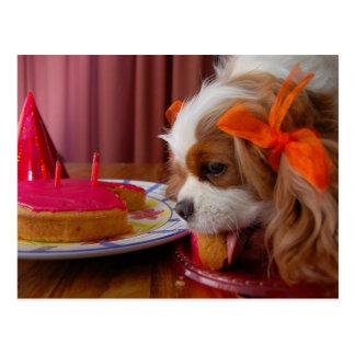 Carte Postale Épagneul de cavalier d'anniversaire de Renae