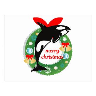 Carte Postale épaulard de Joyeux Noël