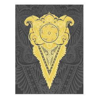 Carte Postale Épée des fleurs, tarot, spiritualité, newage