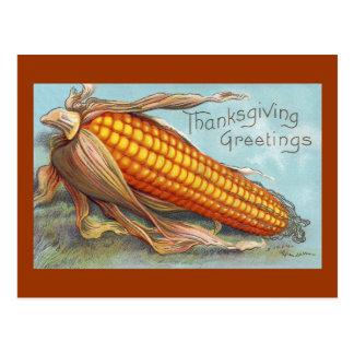 Carte Postale Épi de thanksgiving de cru de blé