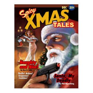 Carte postale épicée de contes de Noël