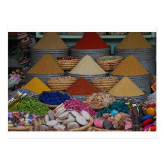 Carte Postale Épices marocaines