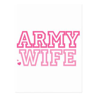 Carte Postale Épouse d'armée (rose)