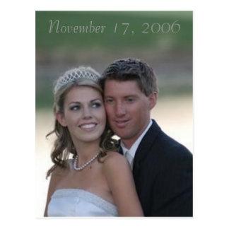 Carte Postale épouser, le 17 novembre 2006