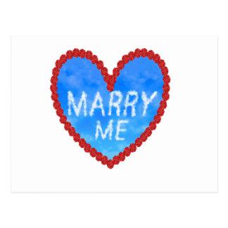 Carte Postale épousez-moi proposition