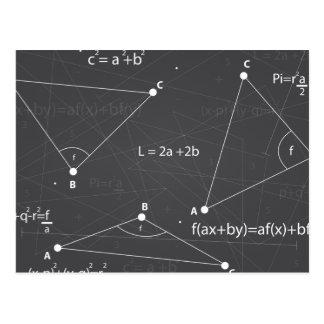 Carte Postale Équations de maths