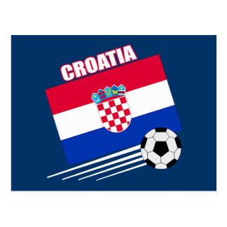 Carte Postale Équipe de football de la Croatie