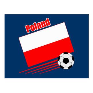 Carte Postale Équipe de football polonaise