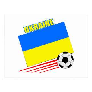 Carte Postale Équipe de football ukrainienne