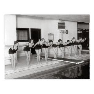 Carte Postale Équipe de natation de filles, 1930
