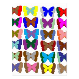 Carte Postale ÉQUIPE de papillon : Apprenez les COULEURS et le