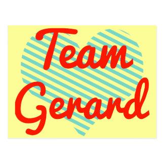 Carte Postale Équipe Gerard