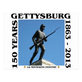Carte Postale ęr Infanterie du Minnesota - 150th Gettysburg