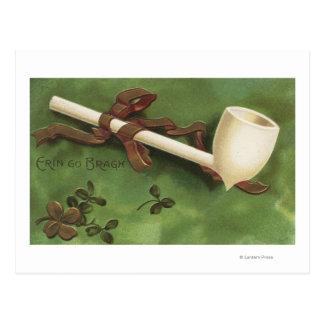 Carte Postale Erin vont Bragh, tuyau en ivoire