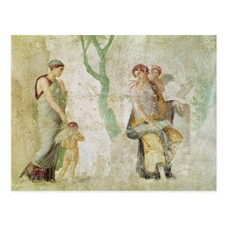 Carte Postale Eros étant puni en présence de l'Aphrodite