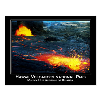 Carte Postale Éruption de Mauna Ulu de volcan de Kilauea en