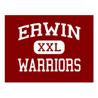 Carte Postale Erwin - guerriers - milieu - Asheville