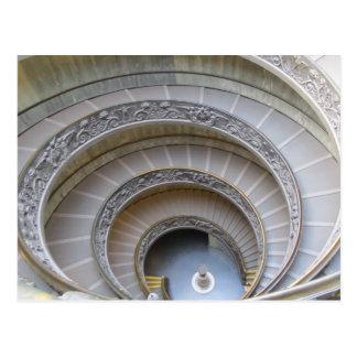 Carte postale--Escalier en spirale