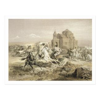 Carte Postale Escarmouche des Persans et des Kurdes en Arménie,
